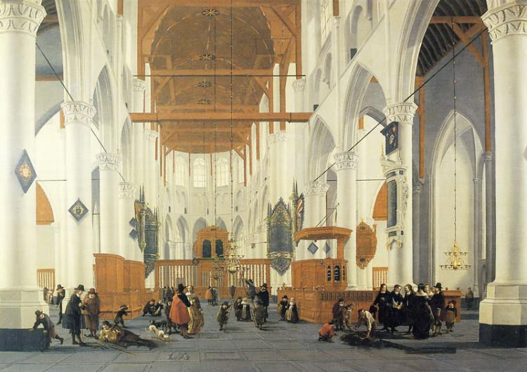 Interieur van de Laurenskerk door Daniel de Blieck (1610-1673)