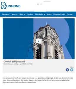 Wekelijkse kerkdienst op Rijnmond