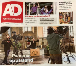 Bernard van Verschuer in de het Algemeen Dagblad, 10 april 2020